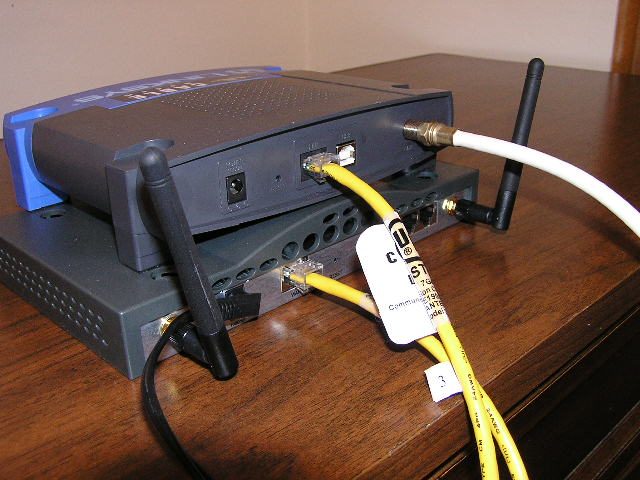 Cable modem connected to router